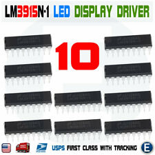 10pcs LM3915N-1 LED Bar Chart Display Driver Inline DIP-18 LM3915 LM3915N IC USA