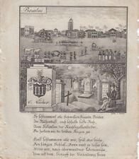 Bombay Mumbay Indien India Orig. Lithografie Walde 1830 Zittauisches Tagebuch