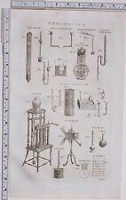 1788 ANTIQUE PRINT PNEUMATICS BAROMETER EUDIOMETER EQUIPMENT APPARATUS