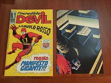 L'INCREDIBILE DEVIL= IL DIAVOLO ROSSO= N. 1 MAGGIO 1970= MANIFESTO=RISTAMPA 1995