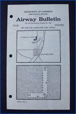 1930 AIRWAY BULLETIN No. 912 LOS ANGELES SALT LAKE AIRWAY, MILFORD, UTAH