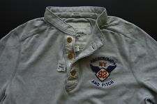 ABERCROMBIE AND FITCH GREY LS THE CLASSIC HENLEY CASUAL SHIRT SIZE: XL *NWT