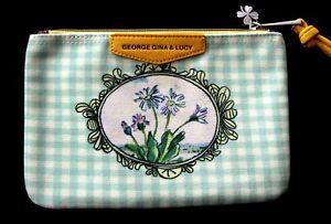 NEU George, Gina & Lucy *GINAS POUCH* green glitter flowers Kosmetik Täschchen