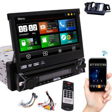 7 Inch Single 1Din Touchscreen GPS Navi Car Radio CD Stereo BT RDS +Free Camera