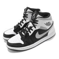 Nike Air Jordan 1 Mid AJ1 White Shadow Black Grey Men Casual Shoes 554724-073