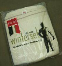 Vintage 60s Hanes Deluxe Thermal Set Xl 42-44 Pants Shirt Raschel Knit Nip