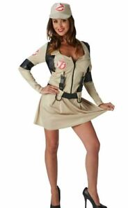 Ladies Official Ghostbusters Fancy Dress Outfit- Medium Size - Halloween Costume