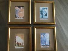 FAT LADY PICTURES X 4 HUMOROUS QUIRKY FUNNY FRAMED PRINTS PLUMP OVERSIZE WOMEN