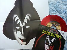 """GENE SIMMONS 45 RPM 7"""" - Radioactive RED W/COLLECTOR'S SLEEVE & MASK"""