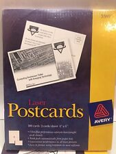NEW Avery 5389 Postcards for Laser Printers 4x6 Inches White 100 pack/box