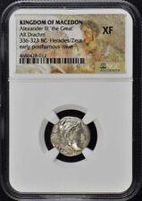 336-323 BC Alexander III Drachm NGC XF Kingdom of Macedon