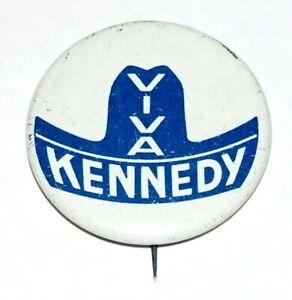 1960 VIVA JOHN F. KENNEDY JFK campaign pin pinback button political presidential