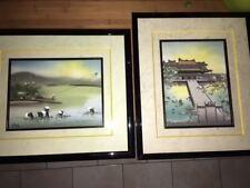 2 peintures sur soie - VIETNAM