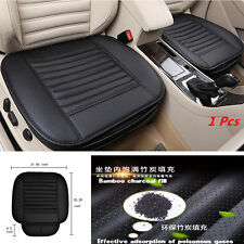 Car Seat Soft Breathable Protect Cushion Black PU Leather Bamboo Charcoal Mat