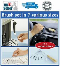 Wenko 7PC Multi Purpose Cleaning Brush Set Key Chain Brushes CAR KITCHEN HOME