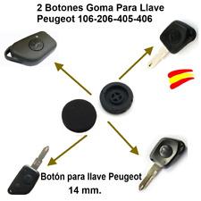 2 BOTONES GOMA PARA LLAVES MANDO CARCASA PEUGEOT 106-206-405-406