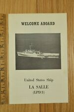 Welcome Aboard Uss La Salle United States Ship Navy Amphibious Booklet 1960 1970