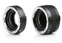 Movo MT-P56 2-Piece AF Chrome Macro Extension Tube Set for Pentax K DSLR Camera