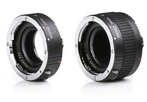 Movo MT-P56 2-Piece AF Chrome Macro Extension Tube Set for Pentax K DSLR Camera