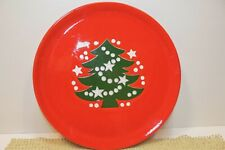 Waechtersbach Red Christmas Tree SALAD DESSERT PLATE Germany 8""