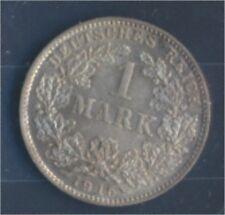 alemán Imperio Jägernr: 17 1915 D Flor di cuño Plata 1915 1 marcos gran (7859333