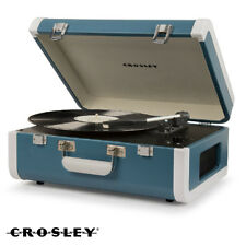 NEW Crosley PORTFOLIO CR6252A-TU Bluetooth Turntable Record Player - Turquoise
