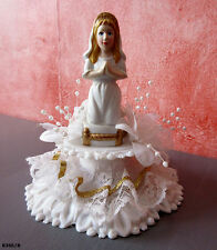 1 figurine communiante années 70 Décor de gâteau de communion vintage
