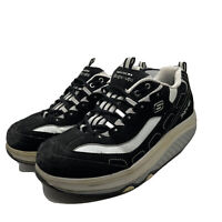 Skechers Shape-Ups 11809 Womens Size 8.5 Toning Shoes Black White 2009