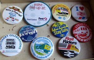 BRITISH RAILWAYS BR vintage 1970s - 1980s promo tin pin BADGE Select from list