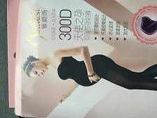 Women Lady Maternity Warm Thermal Belly Tummy Cover Pantyhose Tights Stockings Black 300d Thick Design With Foot