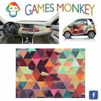Pellicola Car Wrapping Adesiva 70x50 cm -  GEOMETRIC TEXT - Vinile PVC Lucido HD