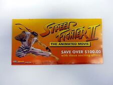 STREET FIGHTER II ANIMATED MOVIE CATALOG G.I. Joe Brochure Booklet COMPLETE 1994