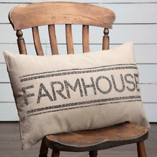 FARMHOUSE PILLOW :  COUNTRY SAWYER MILL GRAIN SACK SAYING RUSTIC CABIN CUSHION