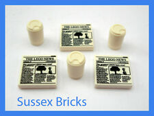 "Lego City - 3x Newspaper ""Lego News"" + 3x Take Out Coffee Cups for Minifigures"
