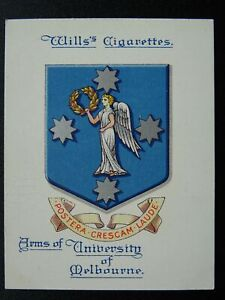 No.19 MELBOURNE UNIVERSITY Arms of Universities L25 W.D.& H.O.Wills 1923