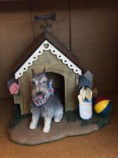 Danbury Mint Home Sweet Home Schnauzer In Dog House Figurine Resin Statue