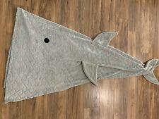 "Pillowfort Kids Boy Girl Grey Shark Tail Wearable Blanket 66x55"" Preowned Unused"