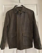 US Wings Brown Leather Jacket Indiana Jones Indy Style Youth Size Large
