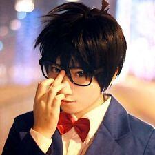 New! Detective Conan,Case Closed Conan cosplay healthy party wig + free hairnet