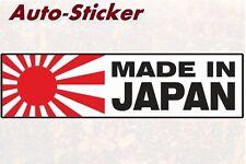 Made in Japan Risingsun Bunte Sticker Aufkleber Digital JDM Tuning Style