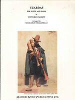Monti Czardas Sheet Music Flute Piano 1996 Chiaramello #M2639