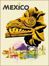 Mexico Dragon Head Vintage Mexican Travel Advertisement Art Poster Print