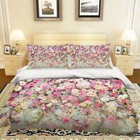 3D Daisy Rose ZHUA1734 Bed Pillowcases Quilt Duvet Cover Set Queen King Zoe