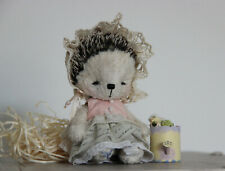 Artist teddy hedgehog Lily - Collectible plush toy - OOAK collectible teddy
