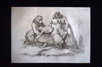 Incisione d'allegoria e satira Ungheria, Russia, Austria Don Pirlone 1851