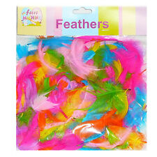 25 Grams Feathers Mix Bright Colour Art & Craft Kid's Party Fancy Costume Decor