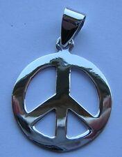 MAGNIFIQUE PENDENTIF EN ARGENT 925/1000 PEACE AND LOVE POIDS 2,2 GM D'ARGENT