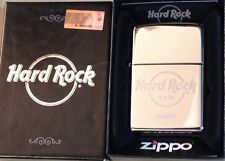 Hard Rock Cafe LISBON Silver Chrome ZIPPO Lighter New in Box with Sealed Sticker
