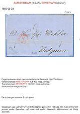 NEDERLAND 1866  BRIEF  AMSTERDAM - WESTZAAN