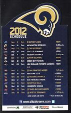 St Louis Rams--2012 Magnet Schedule